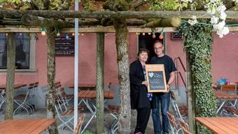 Priska und Jean-Pierre Aeschbach vor ihrem neuen Restaurant. Sandra Ardizzone