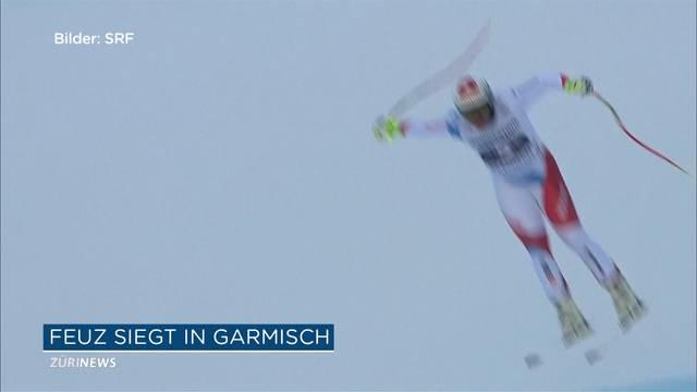 Beat Feuz gewinnt Olympia-Hauptprobe in Garmisch