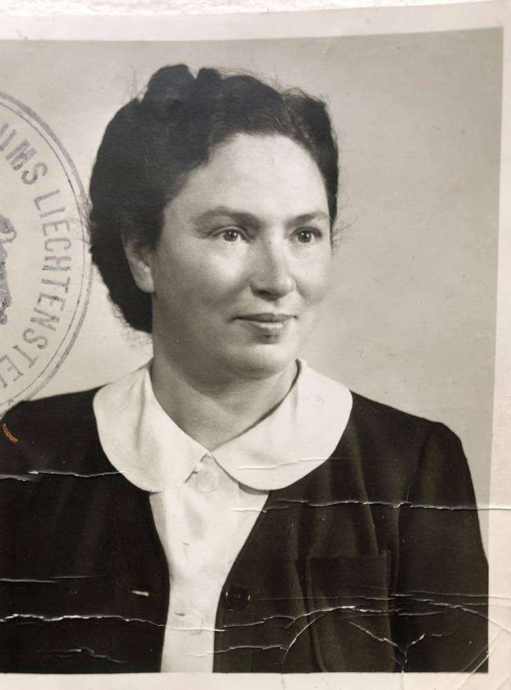 Die aus Baden stammende Mutter von Walter Strauss, Elsi Strauss-Wolf, um 1940.
