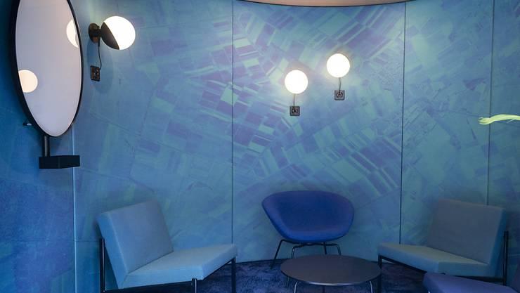 Die Inneneinrichtung im neuen Google-Hauptgebäude in Zürich wirkt futuristisch.
