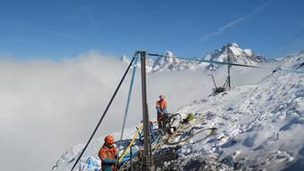 Eine der PERMOS-Messstationen auf dem Schilthorn in den Berner Alpen.