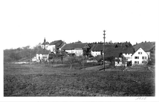 1938: Dorfansicht von Rütihof