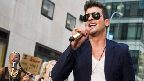 R&B-Sänger Robin Thicke in New York (Archiv)