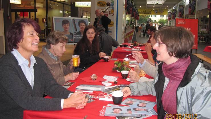 Grossratskandidatinnen Marie-Louise Nussbaumer und Christine Brüesch
