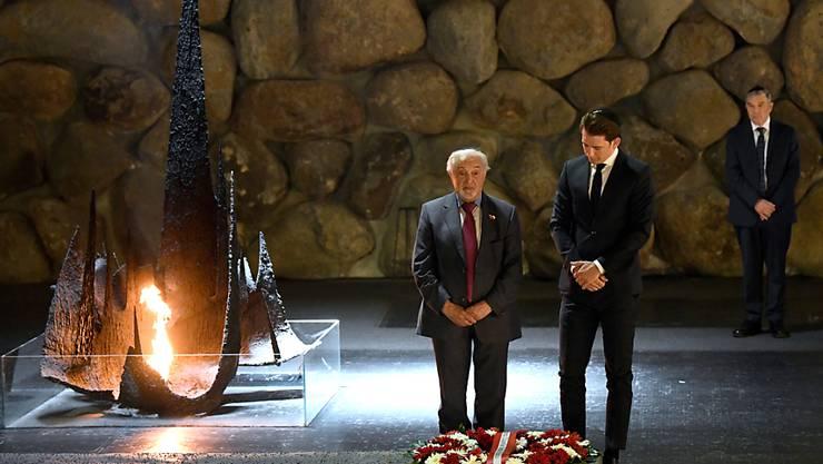 Österreichs Bundeskanzler Sebastian Kurz besucht die Holocaust-Gedenkstätte Yad Vashem in Jerusalem.