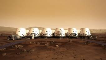 In diesen Containern sollen die Astronauten wohnen