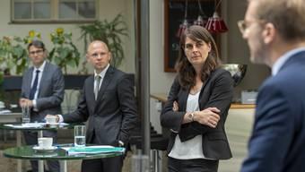 Die bürgerlichen Parteien geben sich nach Auszählung der brieflichen Stimmen bei den Basler Regierungsratswahlen zuversichtlich. (Archivbild)