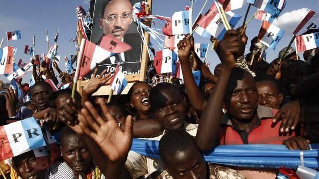 Anhänger von Präsident Paul Kagame