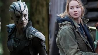 """Jennifer Lawrences Figur aus """"Winter's Bone"""" (r) war das Vorbild für Jaylah aus """"Star Trek"""" (l, beides Pressebilder)"""
