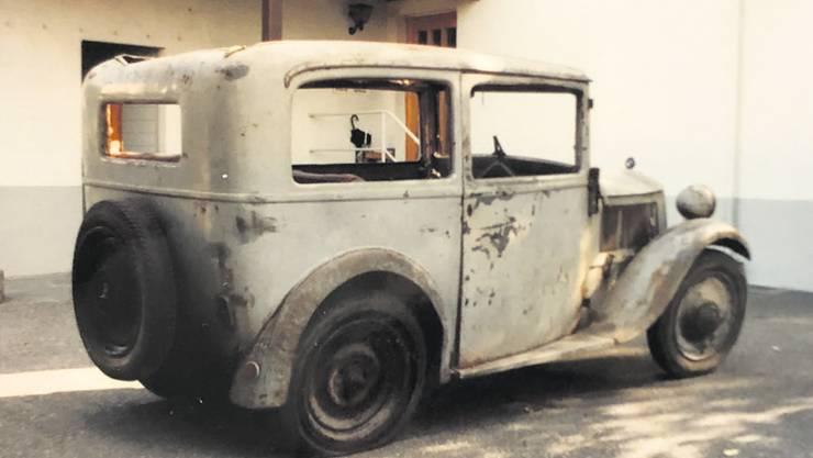 So sah der BMW 1991 aus, bevor die Restauration begann.