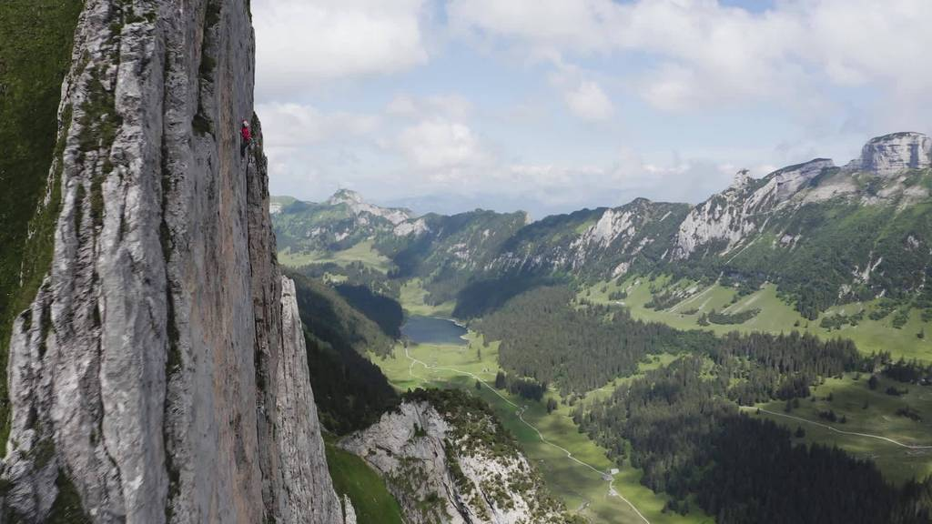 Neue Route: Michael Wohlleben klettert an der Dreifaltigkeit