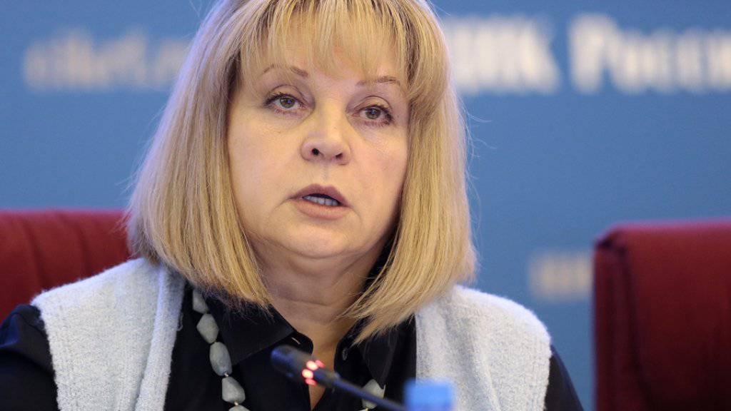 Ella Pamfilowa, die Leiterin der russischen Wahlbehörde, hat das Ergebnis der Parlamentswahlen für gültig erklärt. Dies trotz verschiedenen Vorwürfen wegen Fälschungen und Manipulationen. (Archivbild)