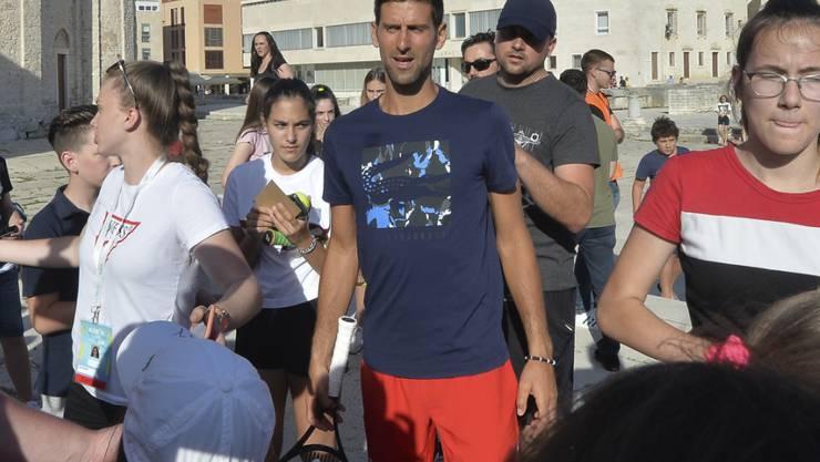 Novak Djokovic erhielt Beistand von seinem Trainer Goran Ivanisevic und von seinem Vater