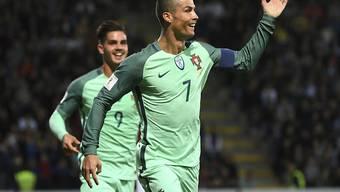 Cristiano Ronaldo traf gegen Lettland zweimal