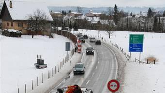 Wird praktisch dauernd befahren: Autobahnzubringer bei Oensingen.