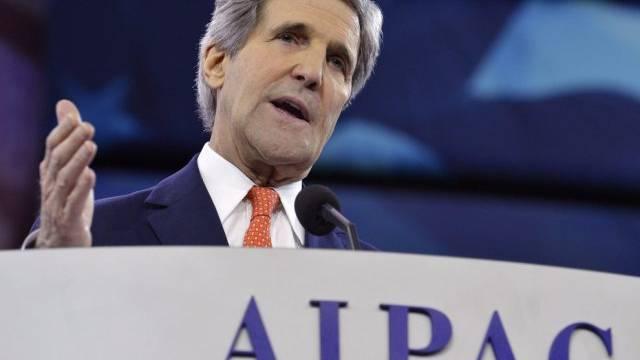 US-Aussenminister John Kerry spricht bei der AIPAC-Jahreskonferenz