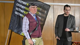 Thomas «Veri» Lötscher (links) und Kilian Ziegler unterhielten das Publikum mit ihrer Gegensätzlichkeit.