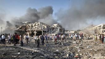Selbstmordanschlag in der somalischen Hauptstadt Mogadischu (Oktober 2017)