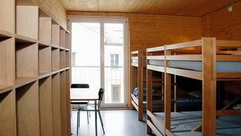 Schlafraum in der Villa Jugend in Aarburg