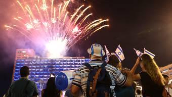 Unabhängigkeitsfeuerwerk in Tel Aviv.
