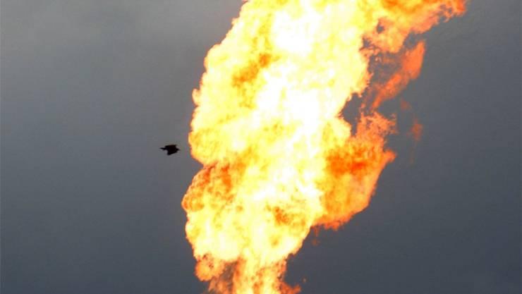 Dank der PSI-Forschung kann das Abfackeln von Öl vermieden werden. Key