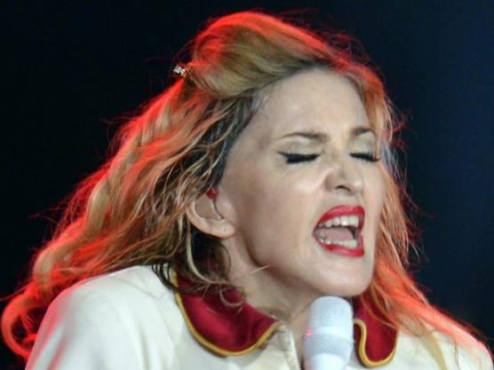 Madonna bei ihrem Auftritt in Zürich