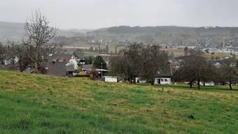 Blick von der «Mairüti» auf Zetzwil und das Tal.