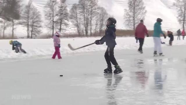 Schwarzsee wieder bereit zum Schlittschuhlaufen