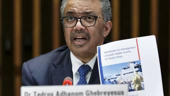 Nach den Worten von WHO-Generaldirektor Tedros Adhanom Ghebreyesus will die Uno-Organisation die Suche nach einem Impfstoff und wirksamen Medikamenten gegen das Coronavirus verstärken.