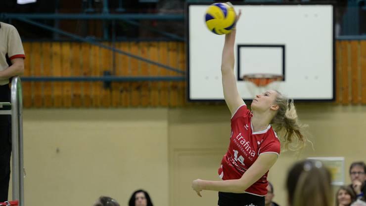 Laura Künzler spielte im zweiten Spielabschnitt sehr angriffig.