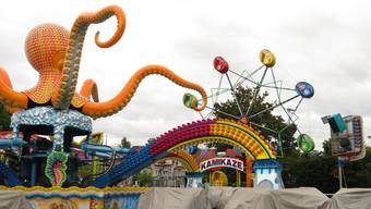 Der Lunapark ist bereits zum grössten Teil aufgebaut.