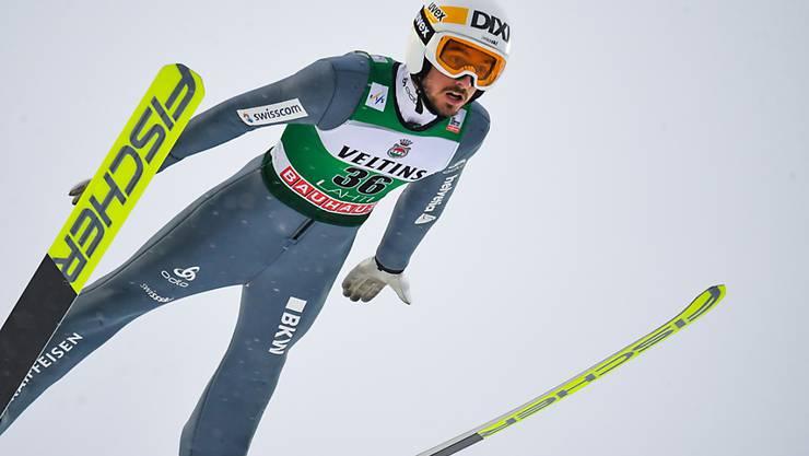 Der Schweizer Trumpf Killian Peier büsst immer noch einiges auf die Besten ein