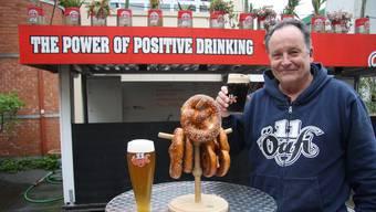 Alex Künzle begrüsst nächste Woche auf dem Reithallen-Areal wieder Tausende von Bierfans jeglicher Couleur.