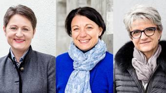 Franziska Roth (SVP), Yvonne Feri (SP) und Maya Bally (BDP)