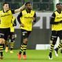 Er ist der Mann des Spiels: Jordan Siebatcheu (Mitte) schoss YB mit zwei Toren zum Auswärtssieg in St. Gallen