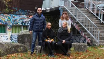 Matthias Meier-Moreno, Melanie Liechti, Julia Flückiger und Tamara Moser (v.l.n.r.).