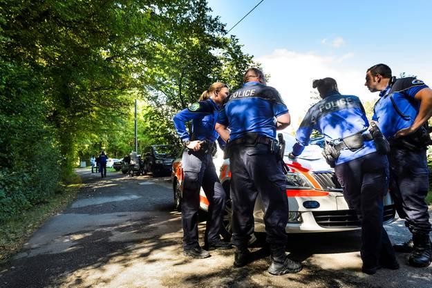 Polizisten vor Ort