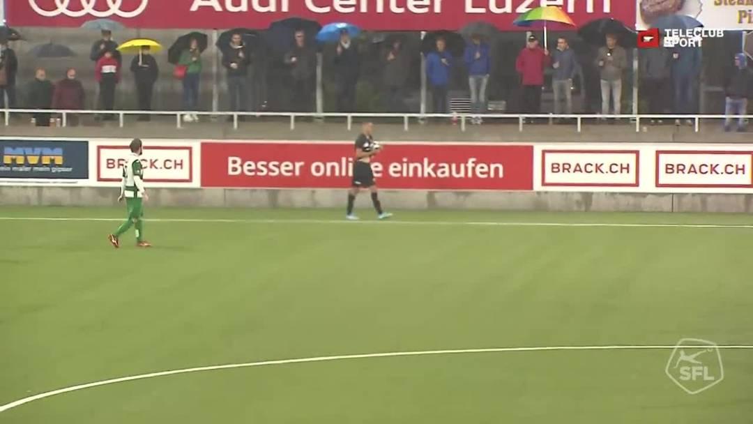 Challenge League 2019/20, 10. Runde: SC Kriens - FC Aarau, 87. Minute