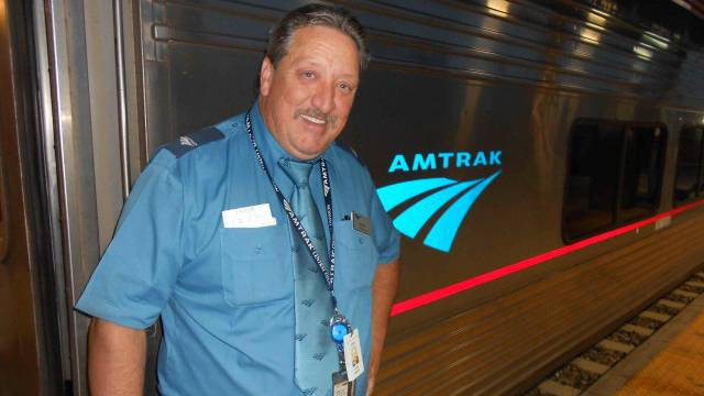 Curtis Keeton arbeitet seit 30 Jahren als Amtrak-Zugbegleiter. / Benjamin Weinmann