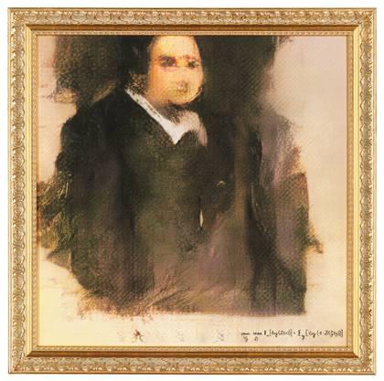 """Eine KI hat """"Edmond Belamy"""" gezeichnet. An eine Auktion wurde es für 432000 Dollar versteigert (Bild:Keystone)"""