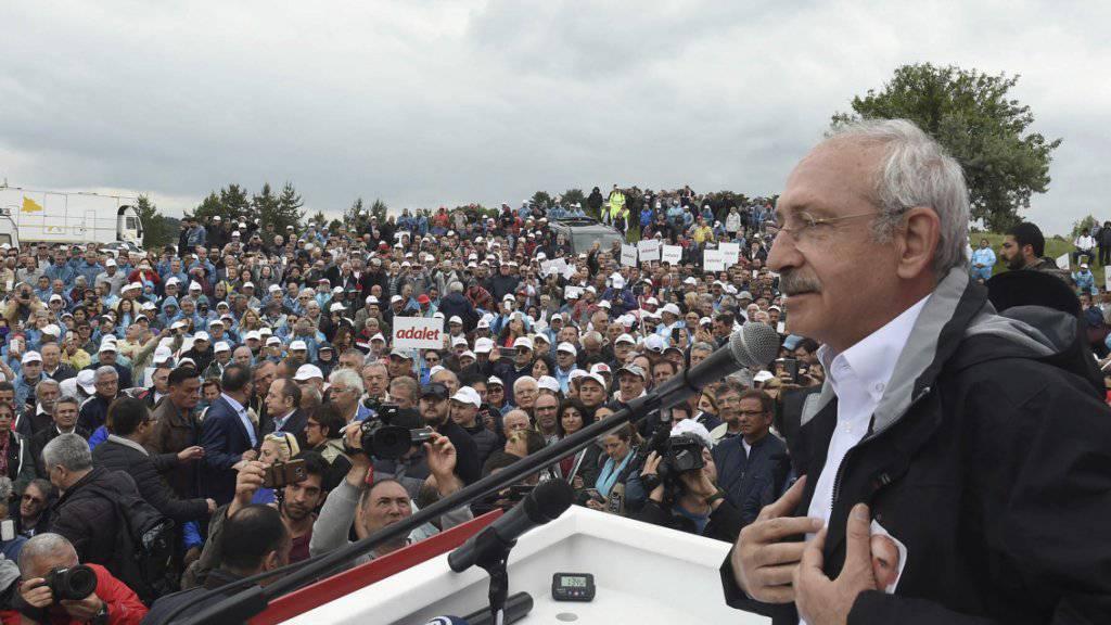 Kilicdaroglu hielt seine Rede am Rande eines Protestmarsches von Ankara nach Istanbul.