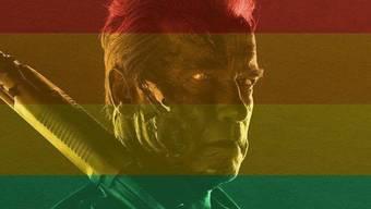 Der Terminator zeigt mit der Rainbow Flag seine Solidarität mit Schwulen und Lesben (Facebook)