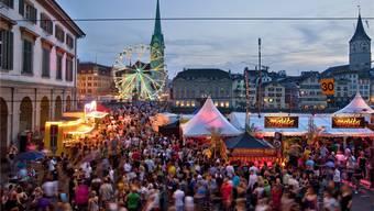 Festzelte, Chilbi, Konzerte: Das Züri-Fäscht in der Zürcher Innenstadt.Keystone