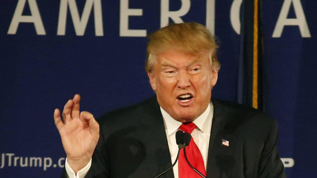 Fährt gern grobes Geschütz auf: Polit-Grossmaul der US-Republikaner Donald Trump.