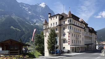 Auch im August hatten die Schweizer Hotels mehr Übernachtungen zu verzeichnen: Im Bild das Grand Hotel Regina in Grindelwald. (Archivbild)