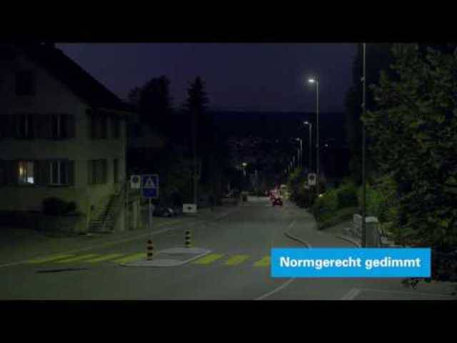 Smarte Strassenlampen in Urdorf
