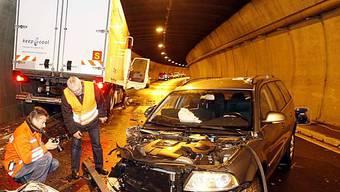 Unfall auf d. Axenstrasse im Dez. 08