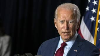 Kandidat Joe Biden will am Parteitag der Demokraten noch Unentschlossene auf seine Seite ziehen.