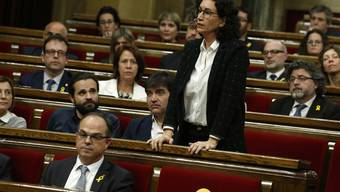 Am Donnerstag trat sie noch im katalanischen Parlament auf.