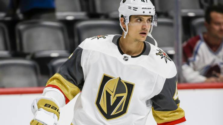 Luca Sbisa im Dress der Las Vegas Golden Knights